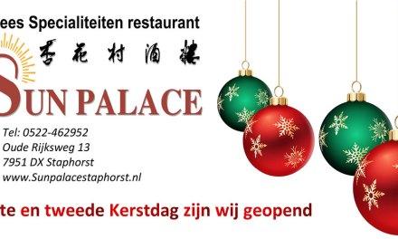 Kerstmenu 2020 Chinees Specialiteitenrestaurant Sun Palace