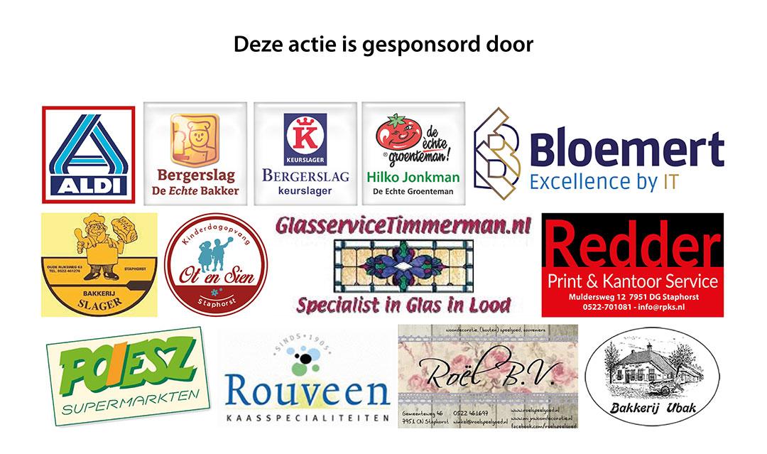 Sinterklaasactie Staphorst – Humanitas groot succes, sponsoren bedankt