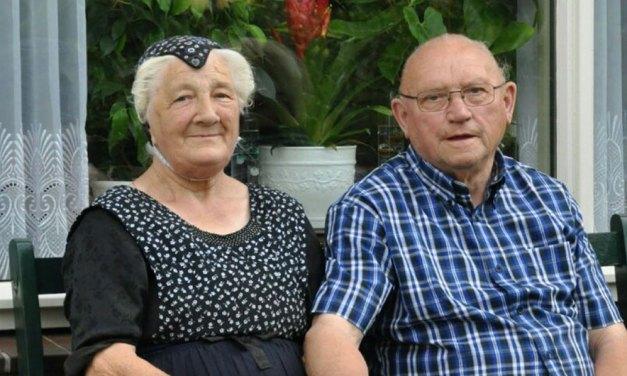 Roelof en Margje Kuiers morgen 65 jaar getrouwd