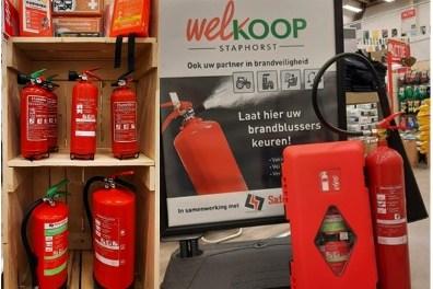 Brandblusser keuren bij Welkoop Staphorst op 12/13 maart
