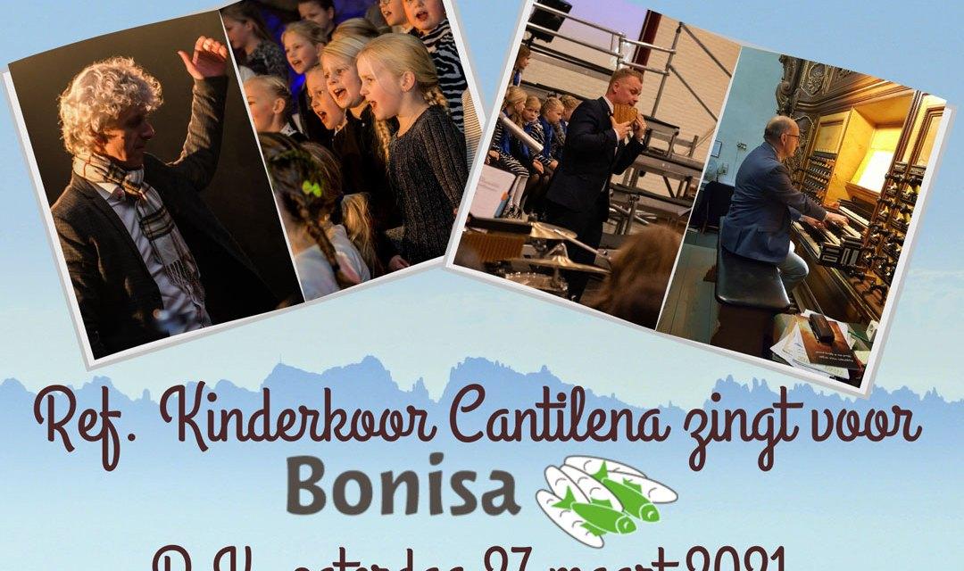 Reformatorisch kinderkoor Cantilena zingt voor Bonisa vanuit Hervormde Kerk te IJhorst