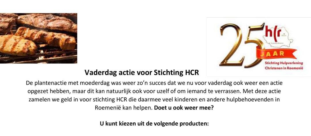 Vaderdagactie voor stichting HCR