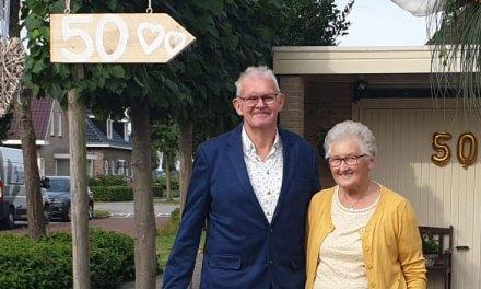 Jouk en Hannie de Lange 50 jaar getrouwd