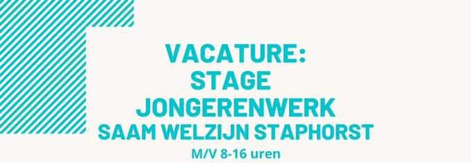 Stage vacature bij jongerenwerk Saam Welzijn Staphorst