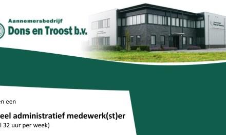 Aannemersbedrijf Dons en Troost b.v. zoekt: Financieel administratief medewerk(st)er