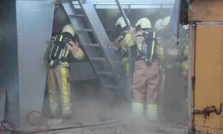 Brand in afzuiginstallatie bij bedrijf in Staphorst