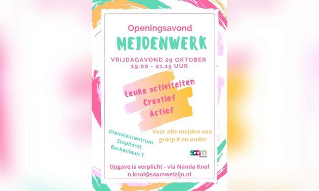 29 oktober: start meidenwerk 2021-2022