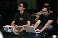 Diego Lafuente (a l'esquerra) al Copyfight de Barcelona