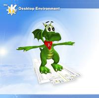 Konqui, la mascota de KDE