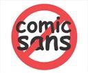 No a la Comic Sans