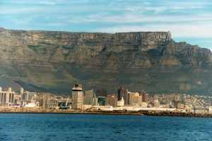 View on Table Mountain - Robben Island - South Africa