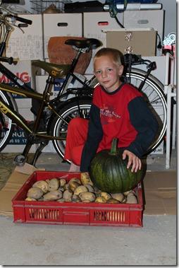 Lianno met zijn eerste oogst