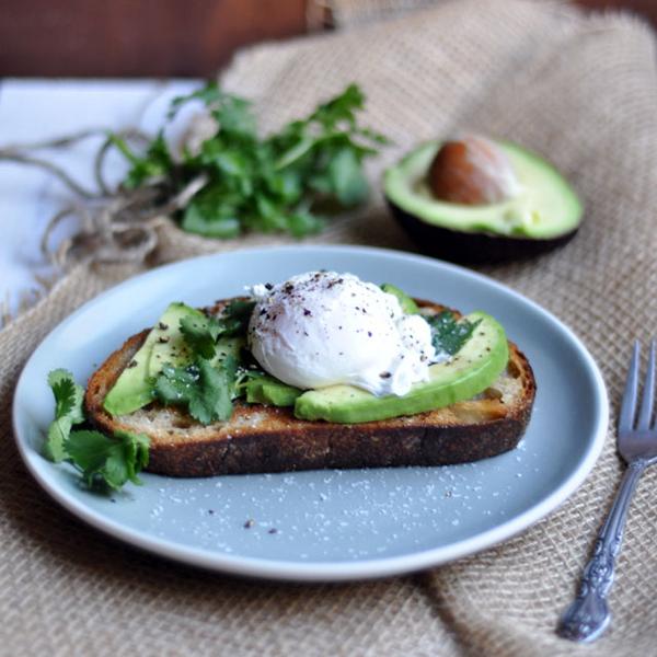 beautiful breakfast avocado egg toast