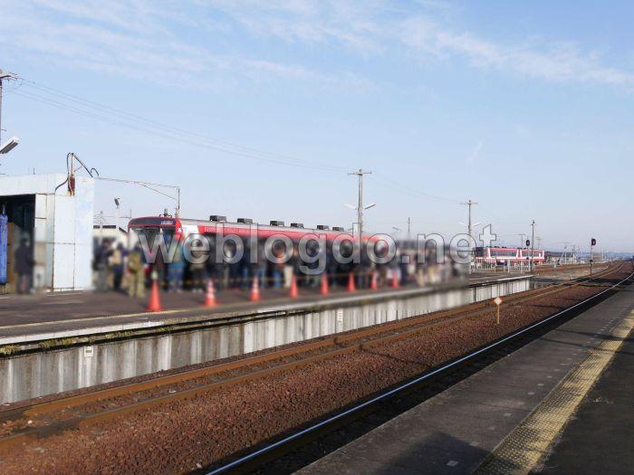 ガルパン列車Ⅳ号車出発式大洗駅
