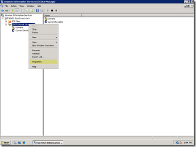 Setting up a Local Mail Server for a SharePoint Virtual Machine on Server 2008 (3/6)