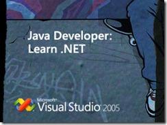 Java Developer: Learn .NET