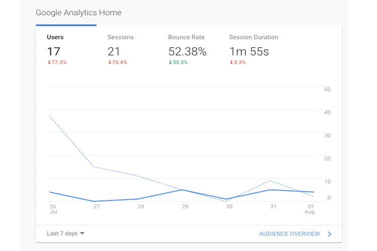 Google Analytics - SEO for small businesses