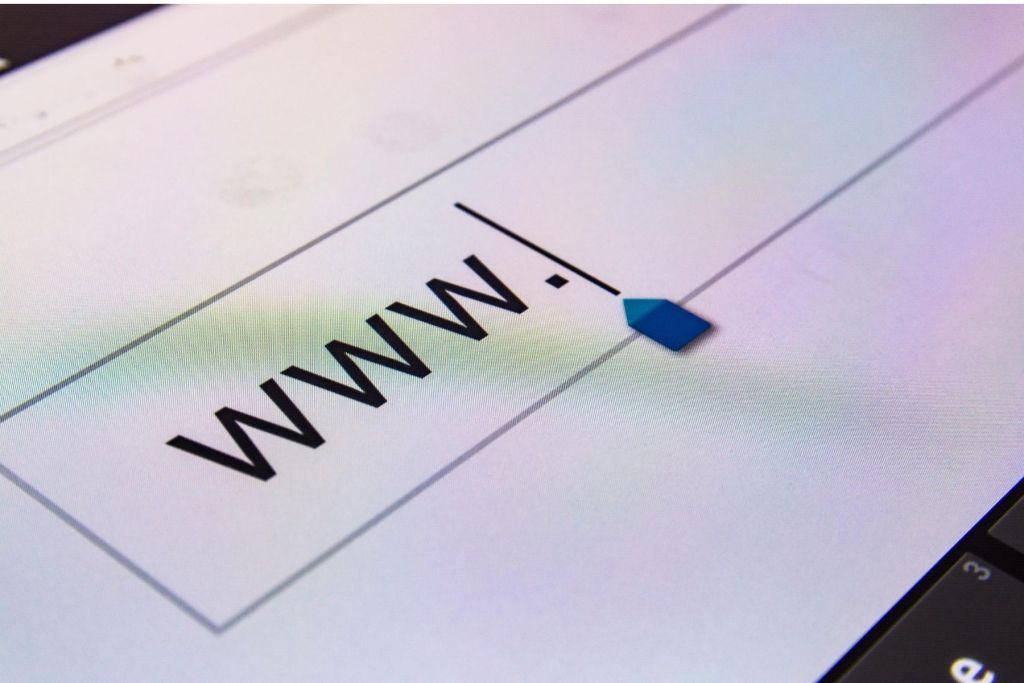 www inside a browser bar