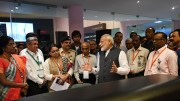PM Narendramodi interacting with the scientists at ISRO-2