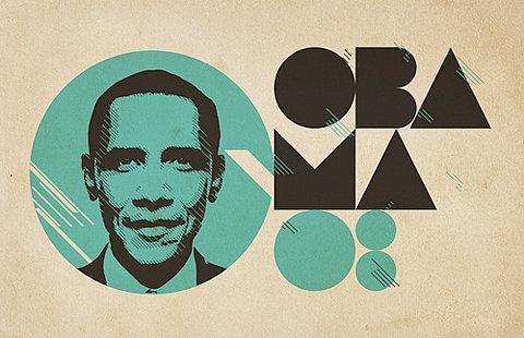 Uma filipeta chique de Barack Obama ainda candidato à presidência