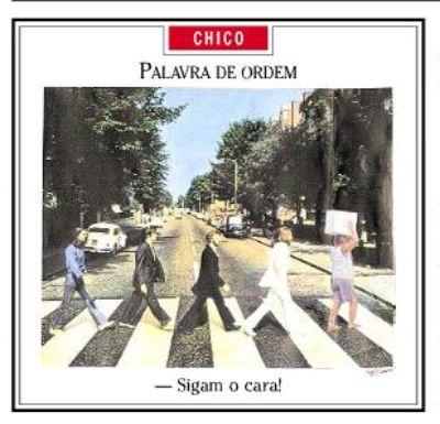 Os Beatles na Abbey Road seguem Lula e seu isopor cheio de energéticos (Chico Caruso, capa de O Globo de 8/1/2010)