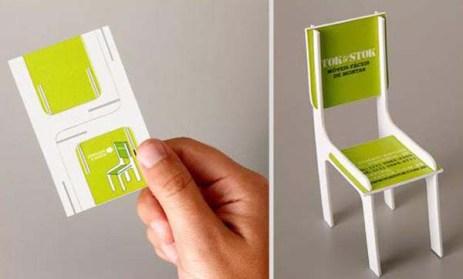 Sandalye üreticisi olan bir firmanın kartvizit tasarımı