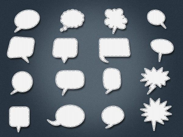 stitched-vector-speech-bubbles