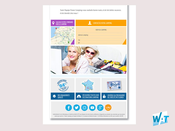 Webdesign Template d'emailing