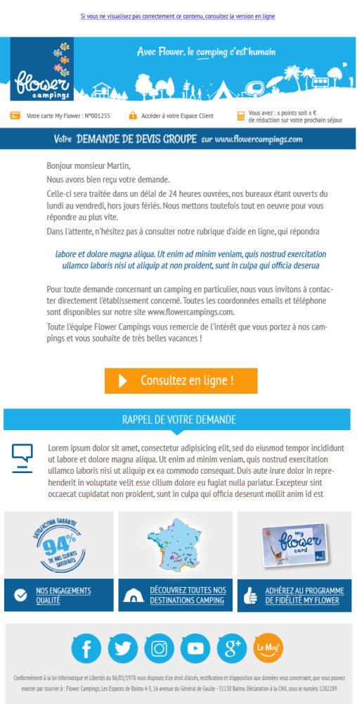 Portfolio webmaster à Toulouse Template d'emailing