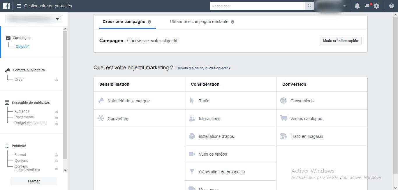 Comment faire une campagne de publicité Facebook