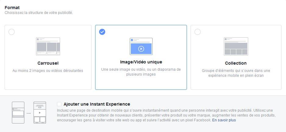Guide pour création de pub Facebook