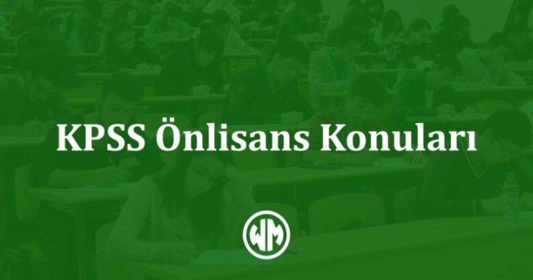 KPSS Önlisans Konuları