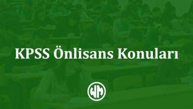 Photo of KPSS Önlisans Konuları