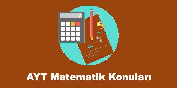 AYT Matematik Konulari