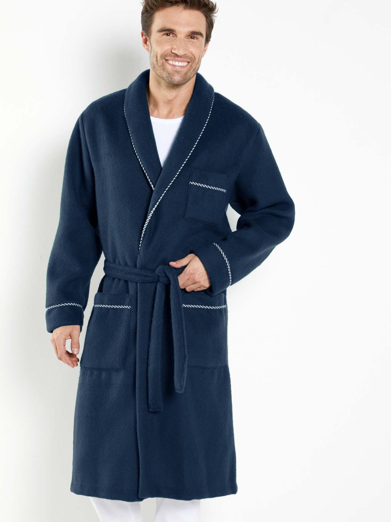 Robe De Chambre Maille Courtelle Honcelac Homme Daxon