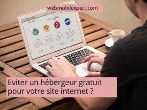 éviter hébergeur gratuit pour site internet