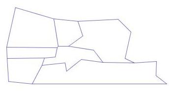 Simplified polygon border lines