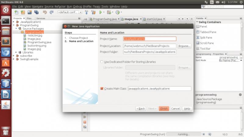 Create A Swing Application Using NetBeans Swing Builder