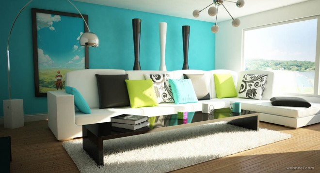 50 Beautiful Wall Painting Ideas And Designs For Living Room Part 42