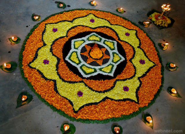 pookalam onam light