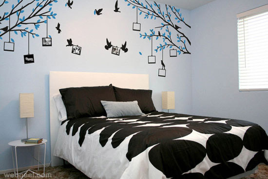 Bedroom Ideas With Wall Art Decor Creating Fresher Atmosphere Designs Decoration