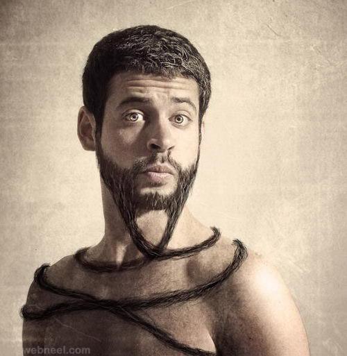 photo manipulation beard