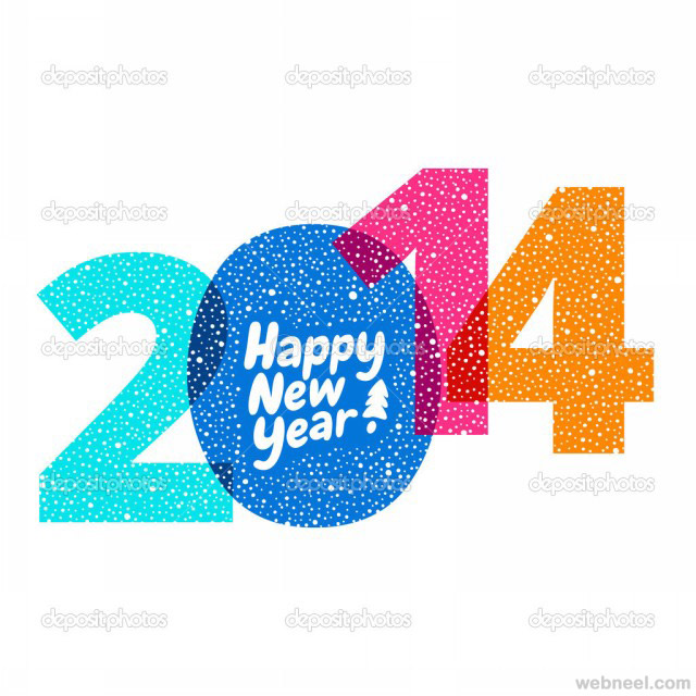 new year greeting card 2014