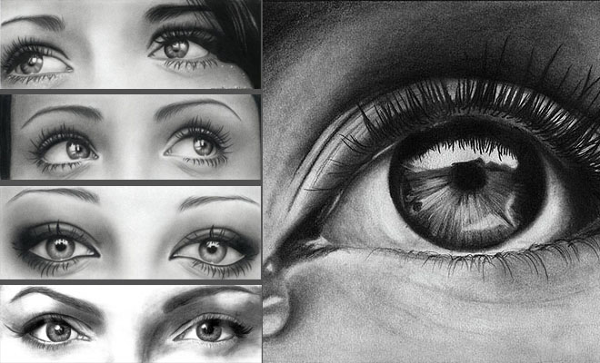 Eyes, drawing, beautiful, women, woman,