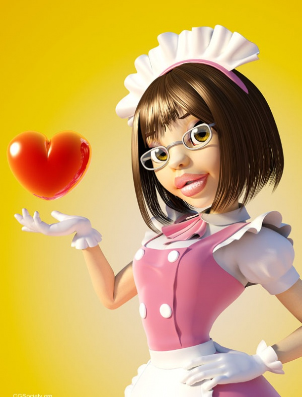 3D Character Design Maid-with-Love