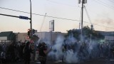 Police in Minneapolis used tear gas on protesters
