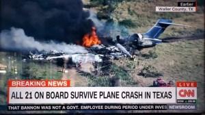 Пътници оцеляха при самолетна катастрофа в Тексас