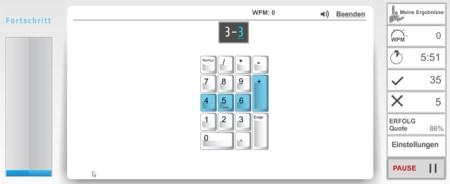 Ziffernblock Zahlenblock numerische Tastatur tippen