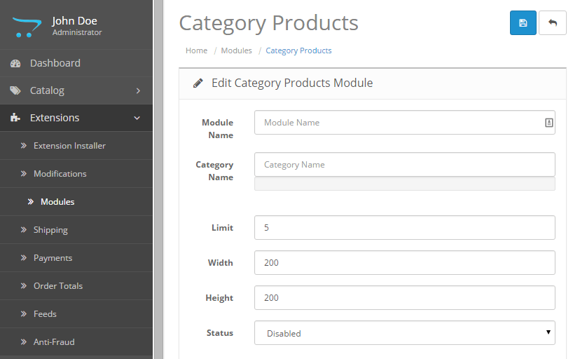 Show products of Category OpenCart 2 3 0 2 module for free