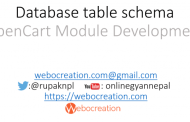 Things to consider while creating database Model Data OpenCart Guide – OpenCart Module Development
